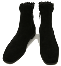 Suede fleece ankle boots