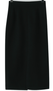 Slit H-line brushed long skirt