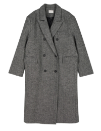 Again double wool long coat