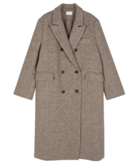 Again double wool long coat 大衣外套