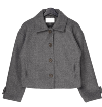 Jurin collar wool short jacket