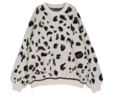 Night Leopard Crew Neck Knit