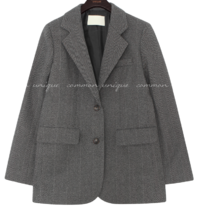Herringbone Notch Lapel Jacket