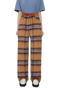 Anel check wool trousers