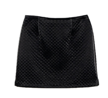 Shine quilted mini skirt