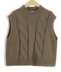 Ruzed Round Neck Knit Vest 針織衫