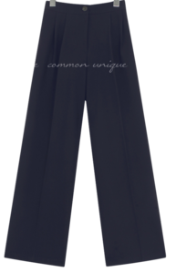 Pleat Detail Wide Leg Slacks