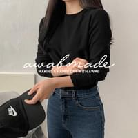 Same day delivery♥#AWABMADE:_On Fleece-lined round T-shirt