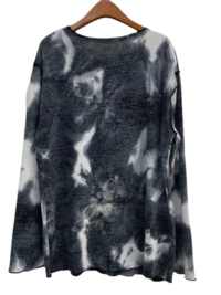 Tie-dye boat neck loose knit