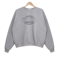 Fix in lettering Fleece-lined Sweatshirt