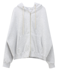 Double-sided Napping Hood Zip-up