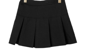 Pleated juvis mini skirt