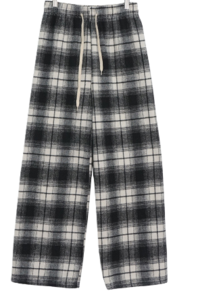 Thicker check banding pants
