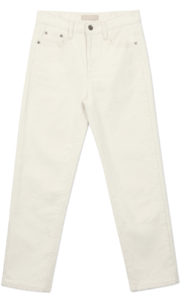 Creamy straight pants
