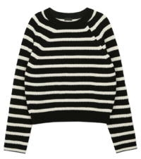 Rumi Raglan striped knit