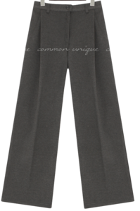 Pleat Accent Fleece Lining Slacks