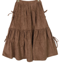 Suede Cancan Shirring Skirt
