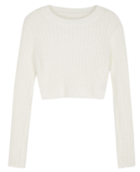 Angel cropped crewneck knit ニット