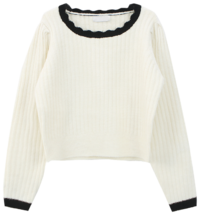 Wave Frill Knit