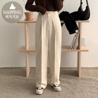 Dew Raised Wide Pin Tuck Pants