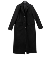 Wool Clover Single Long Coat