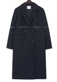 Quilted Lining Notch Lapel Coat