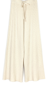 Ribbed Knit Banding Pants-3color