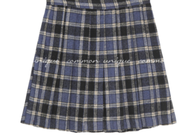 Check Pleated Mini Skort