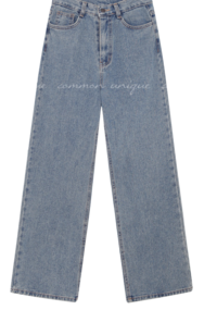 BOEL NAPPING WIDE DENIM PANTS