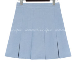 Box Pleat Mini Skirt