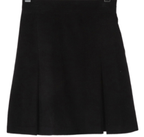Corduroy inverted mini skirt