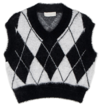 Chess argyle knit vest 開襟衫
