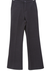 Double-sided brushed basic fit semi-flat slacks