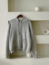 Anderson Hooded Knit Zip Up
