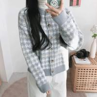 Lily Hound Check Cardigan