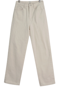 Brushed cotton wide trousers