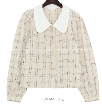 Check Tweed Blouse
