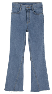 Slash Fleece-lined Flared jeans