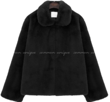 LOPEZ COLLAR FUR JACKET