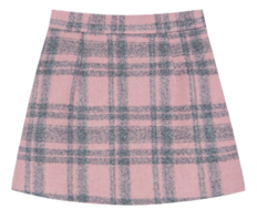 HEART CLUBPink Check Mini Skirt