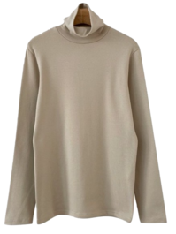 Non-Continuous Fleece-lined Turtleneck T 長袖上衣