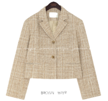 DELONT SET-UP TWEED JACKET