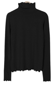 Wave Frill Turtleneck T