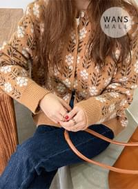 cd3595 Bloom Flower Round Cardigan