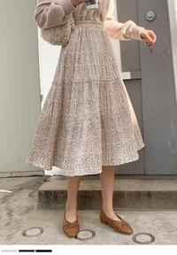 Only look at you flower long pleated skirt