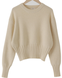 Wave Round Crop Knit