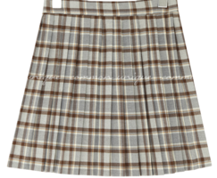 Mini Check Pleated Skirt