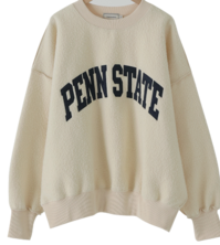 State Overfit Fleece-lined Sweatshirt