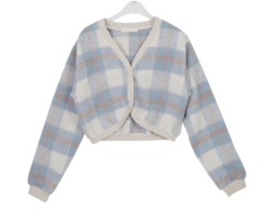 Wool Check Remo Cardigan
