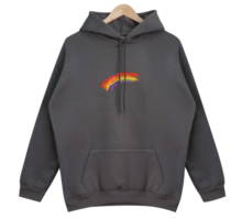 Rainbow Fleece-lined hoodie